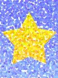 加点的星形黄色 免版税图库摄影