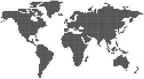 加点的映射世界 免版税库存照片