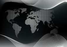 加点的映射世界 免版税图库摄影
