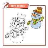 加点的雪人小点 免版税库存图片