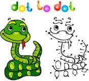 加点的滑稽的动画片蛇小点 免版税库存图片