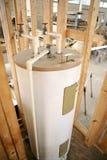 加热器安装的水 免版税库存照片