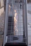 加热器气体 热 室外热化 火 免版税库存图片
