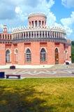加热有一位圆房间1776-1778建筑师的合奏Tsaritsyno 18世纪第三个骑兵军身体Bazhenov 免版税库存照片