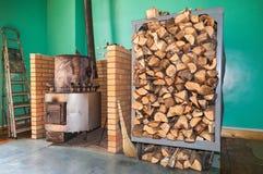 加热的大金属熔炉 图库摄影