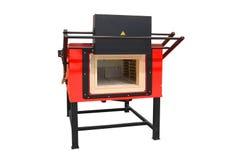 加热的钢的熔炉 免版税库存图片