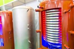 加热的水的准备的锅炉 免版税库存图片
