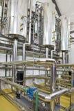 加热系统锅炉室 免版税库存照片
