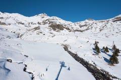 加瓦尔涅Gedre滑雪胜地 免版税库存照片