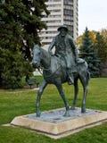 加百利杜蒙特纪念碑在萨斯卡通 免版税图库摄影