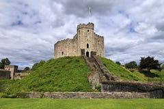 加的夫城堡保留在威尔士,联合王国 库存照片