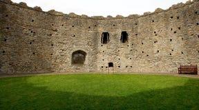 加的夫城堡保留诺曼底人威尔士 免版税库存照片