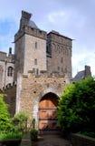 加的夫城堡入口向威尔士 库存照片