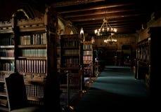 加的夫城堡图书馆 免版税图库摄影