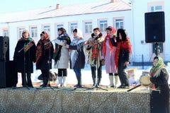 古老俄国国庆节- 图库摄影