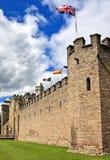 加的夫城堡在威尔士,联合王国 库存照片