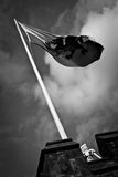 加的夫城堡旗子  免版税库存照片