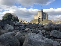 加的夫城堡英国威尔士 库存照片
