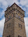 加的夫城堡,威尔士钟楼  免版税库存图片