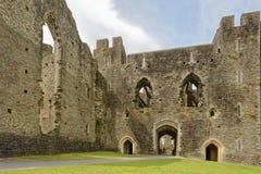 加的夫城堡 加的夫,威尔士,英国  透视图 免版税库存图片