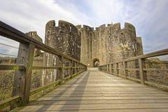 加的夫城堡 加的夫,威尔士,英国  透视图 库存照片