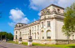 加的夫巡回刑事法庭-威尔士看法  免版税库存照片