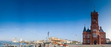 加的夫海湾 库存照片