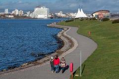 加的夫, WALES/UK - 12月26日:加的夫海湾看法在威尔士o 图库摄影