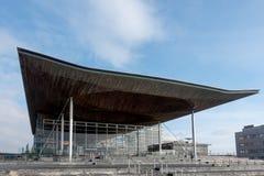 加的夫, WALES/UK - 11月16日:威尔士汇编大厦 免版税库存照片