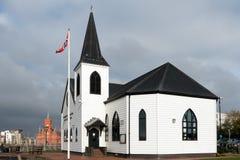 加的夫, WALES/UK - 11月16日:现在前挪威教会咖啡馆 免版税库存照片