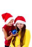 加盖儿童圣诞节 库存照片
