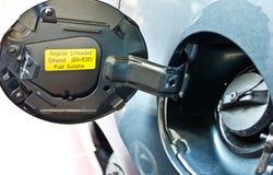 加盖汽车气体 免版税库存图片