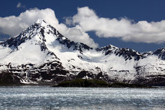 加盖的海湾kenai山国家公园雪 免版税图库摄影