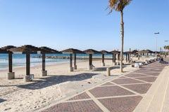 加米奥海滩散步在海法在以色列 库存图片