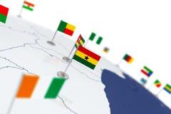 加纳旗子 免版税库存图片