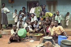加纳的大家庭家庭画象  库存图片