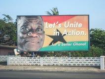 加纳竞选海报 免版税库存照片