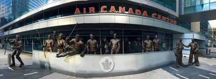 加航中心的细节在多伦多 免版税库存照片