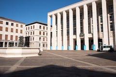 贝加莫广场della Libertà 免版税图库摄影