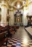 贝加莫,意大利- 2017年8月18日:圣玛丽亚Maggiore神的内部教会  免版税库存图片
