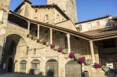贝加莫del意大利palazzo podesta 库存图片