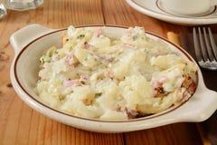 加调料烘烤的土豆 免版税库存图片