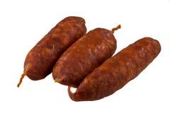 加调料的口利左香肠香肠 免版税库存图片