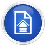 加载文件象优质蓝色圆的按钮 免版税图库摄影