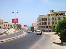 洪加达镇,埃及 库存照片