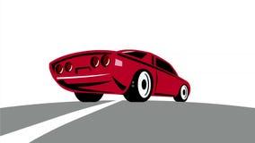 加速减速火箭的第2动画的美国肌肉汽车 皇族释放例证