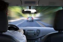 加速在路 免版税库存照片