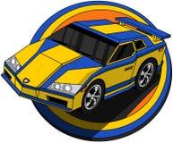 加速的动画片汽车 向量例证