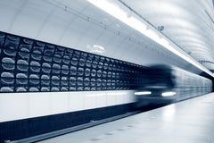 加速的地铁 免版税库存照片