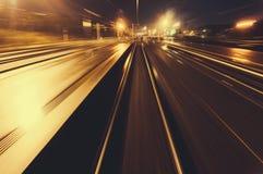 加速的火车 免版税库存图片